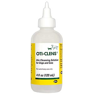 Oti-Clens Ear Cleansing Solution for Dogs and Cats, 4oz